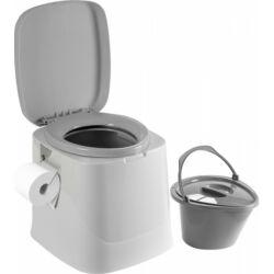 (M9928308) Hordozható vödrös toalett szürke színben, fedéllel