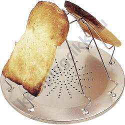 Gázfőzőre illeszthető összecsukható kenyérpirító