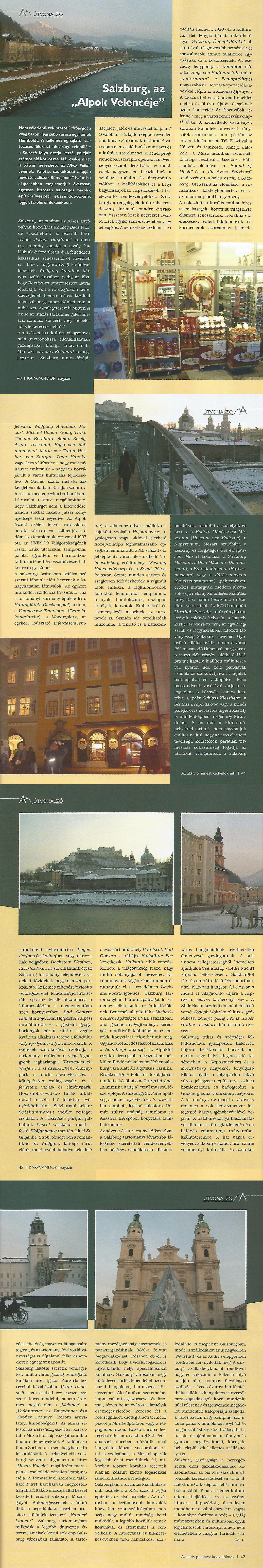 Útvonalzó - Salzburg, az