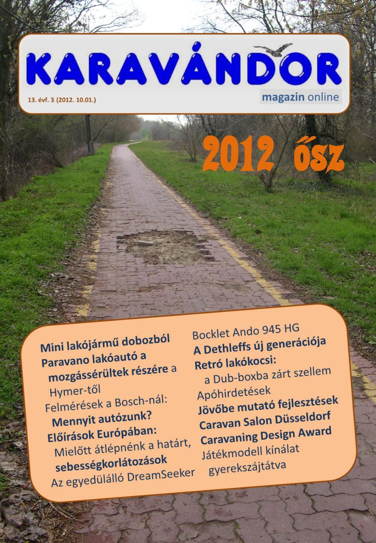 Karavándor magazin 2012. Ősz