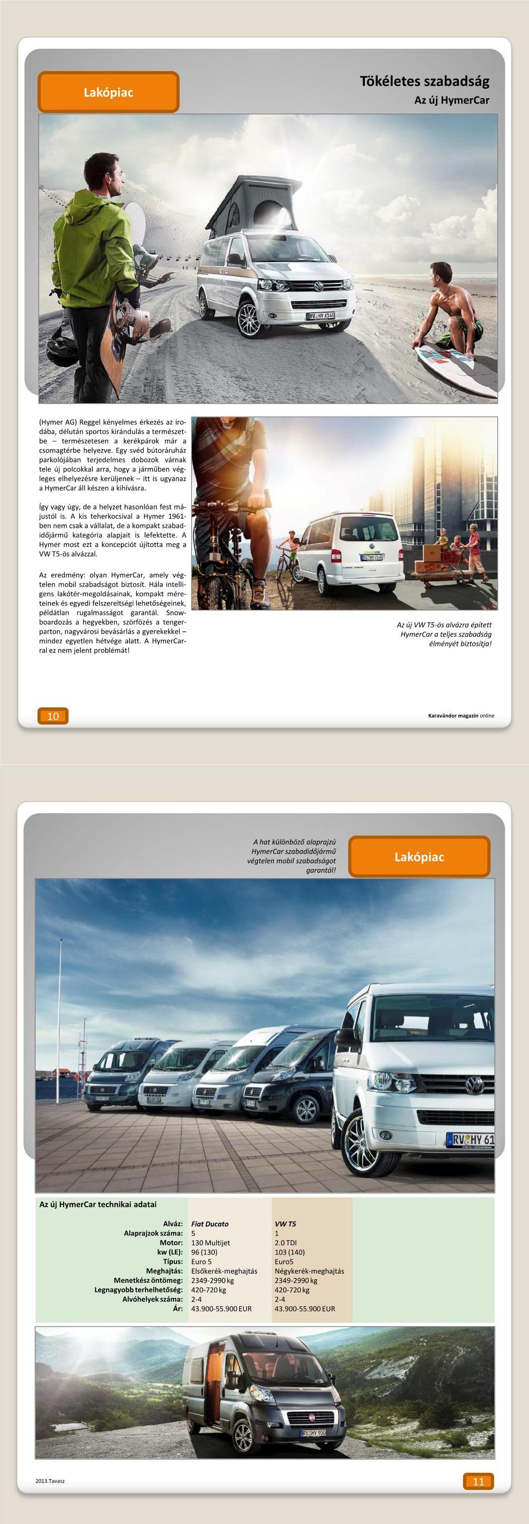 Lakópiac - Tökéletes szabadság: Az új Hymer Car