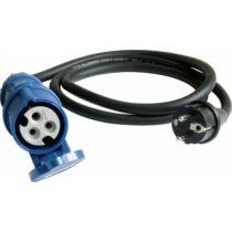 Adapter CEE dugalj, Schuko villásdugó, kábel 150 cm