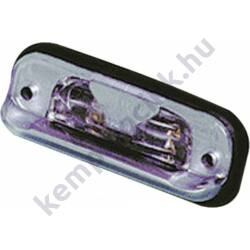 Ledes hátsó ködlámpa 12 / 24 V, IP66 - piros