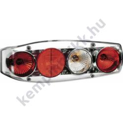 Caraluna II Plus hátsó lámpa kerek prizmával krómozott tolatófénnyel - balos