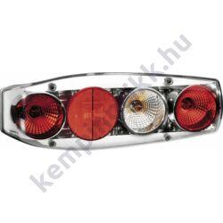 Caraluna II Plus hátsó lámpa kerek prizmával krómozott tolatófénnyel - jobbos