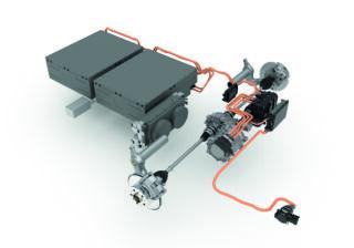 A lecsupaszított akkumulátoros egység és elektromos meghajtás