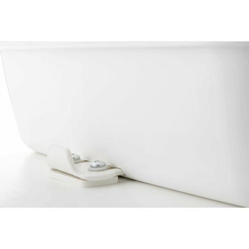 (M9906539) Az adapter segítségével a toalett egyszerű mozdulattal a padlózathoz rögzíthető, majd ürítésnél ismét hordozhatóvá tehető