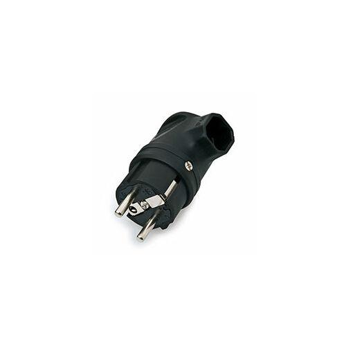 (M9916991) Lengő dugvilla, derékszögű, gumiházas, 250 V. Hőre lágyuló betéttel.
