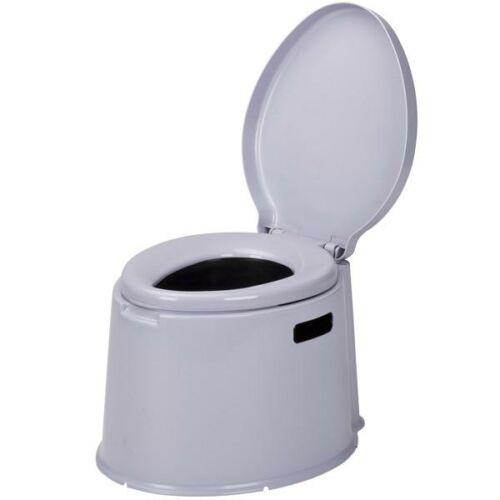 (M9928307) Hordozható vödrös toalett szürke színben, fedéllel