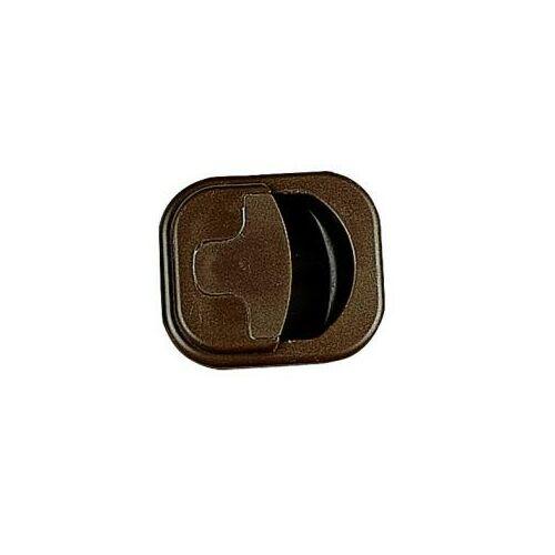 (M9968130) Süllyesztett bútorzár barna színmegjelenésben. Kivágási méret 45 mm