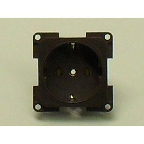 (M9974390) Schuco dugaljzat, kétpólusú, 10 / 16 A, 250 V,  barna színben
