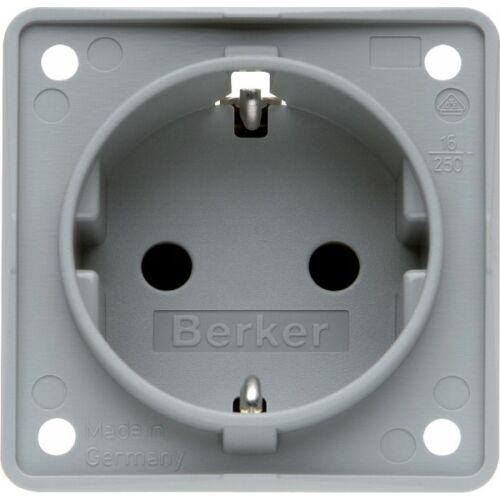 (M9981442) Berker B-Mobil Schuko konnektor, 16 A /250 V, szürke színben