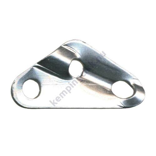 (M9915090) Sátor lefeszítéséhez készült háromlyukas feszítőelem, amely lehetővé teszi, hogy a zsinórzat a csomózás oldása nélkül után-feszíthető legyen