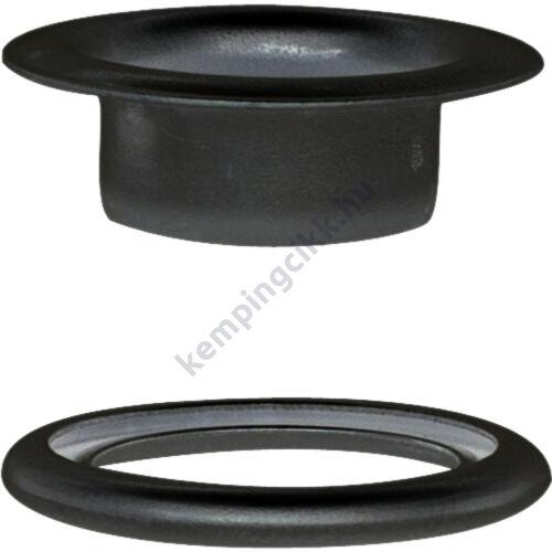 Befűzőlyuk-foglalat alátéttel 8 mm fekete