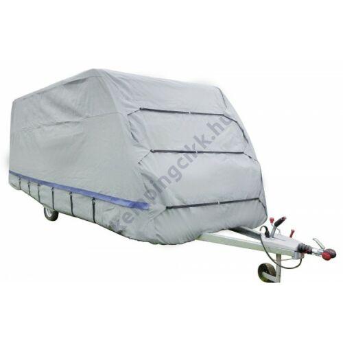 Újdonság a háromrétegű, nagy szakítószilárdságú lakókocsi téli védőtakaró!