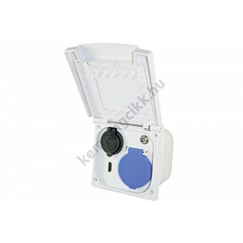(M9931607) Többfunkciós külső csatlakozó (230 V/12 V/TV/TV-műhold és USB)