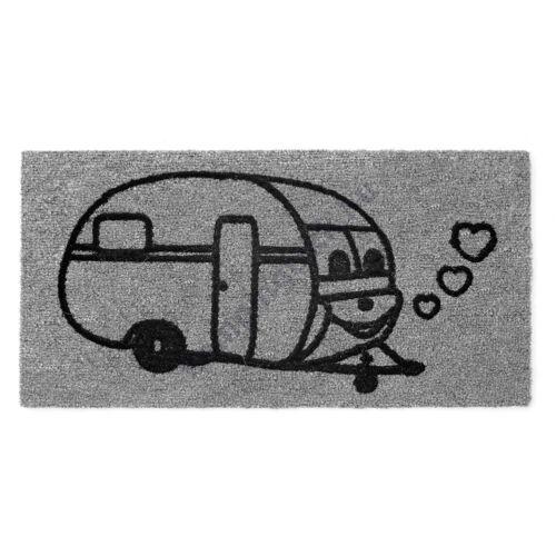 Lábtörlő lakókocsi mintával szürke 60 x 40 cm