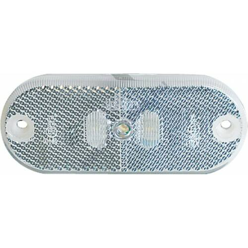 Pozíciólámpa prizmával LED-es 12 V fehér
