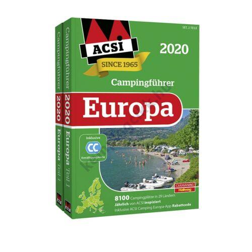(9960215) ACSI Kemping Kalauz és Camping Card - Európa 2020