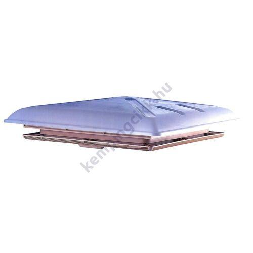 Tejszínű fényáteresztő tetőablak - széles tetőborítással - bézs