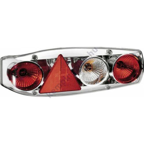 Caraluna II Plus hátsó lámpa háromszög prizmával krómozott ködlámpával és tolatófénnyel - balos