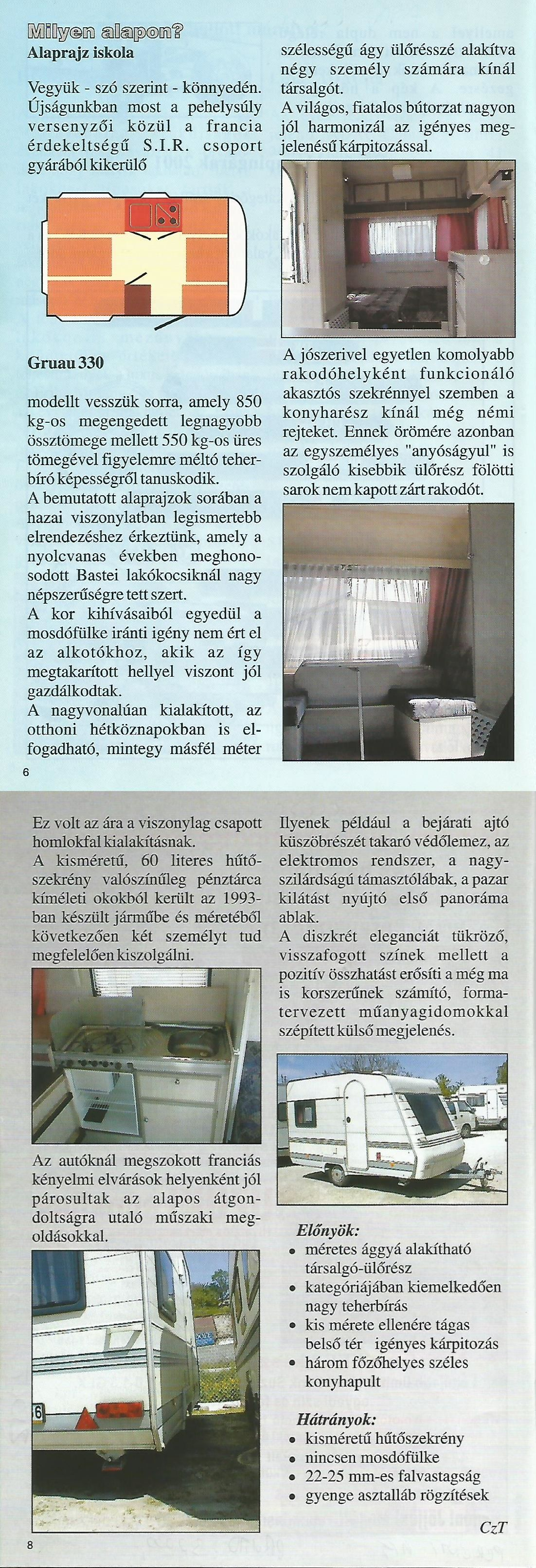 Karavándor magazin 2001. Nyár, Alaprajz iskola - Gruau 330