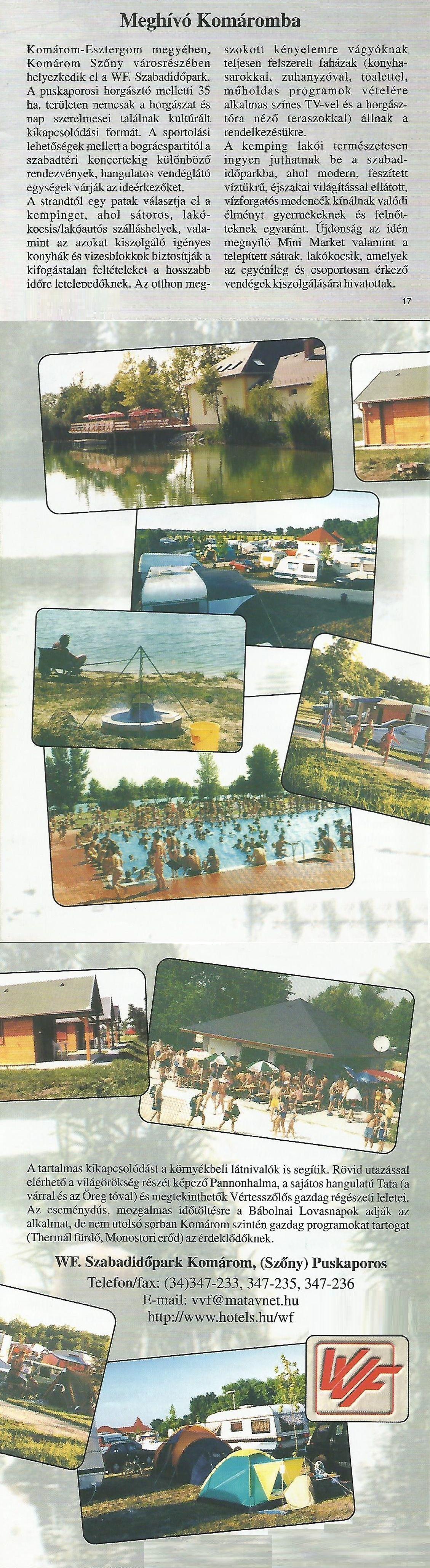 Karavándor magazin 2001. Nyár, Meghívó Komáromba