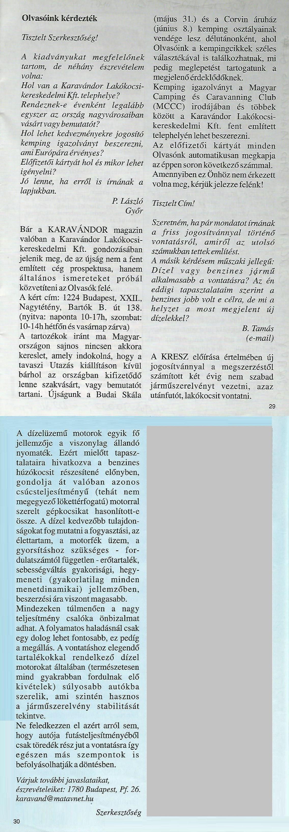 Karavándor magazin 2001. Nyár