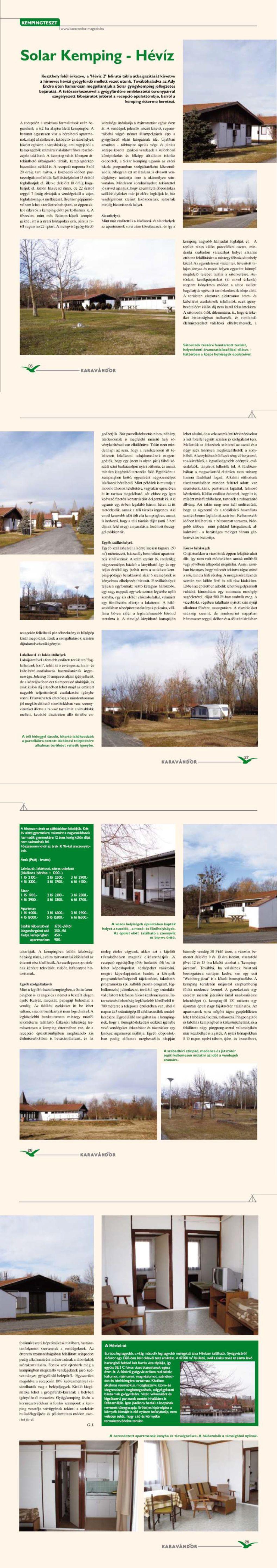 Kempingteszt - Solar Kemping, Hévíz