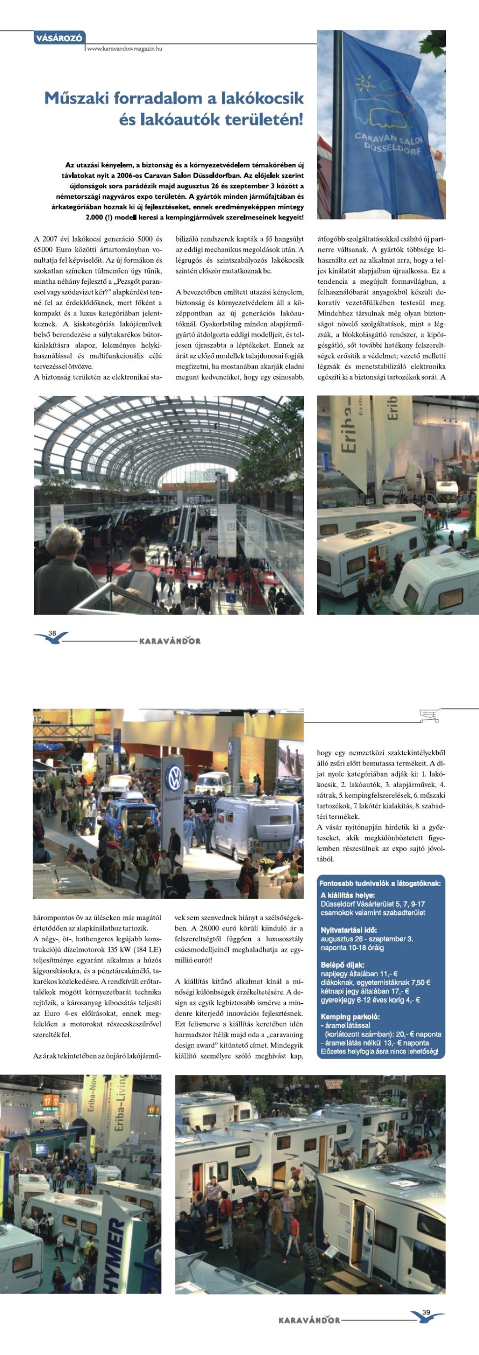 Vásározó - Caravan Salon 2006, Düsseldorf