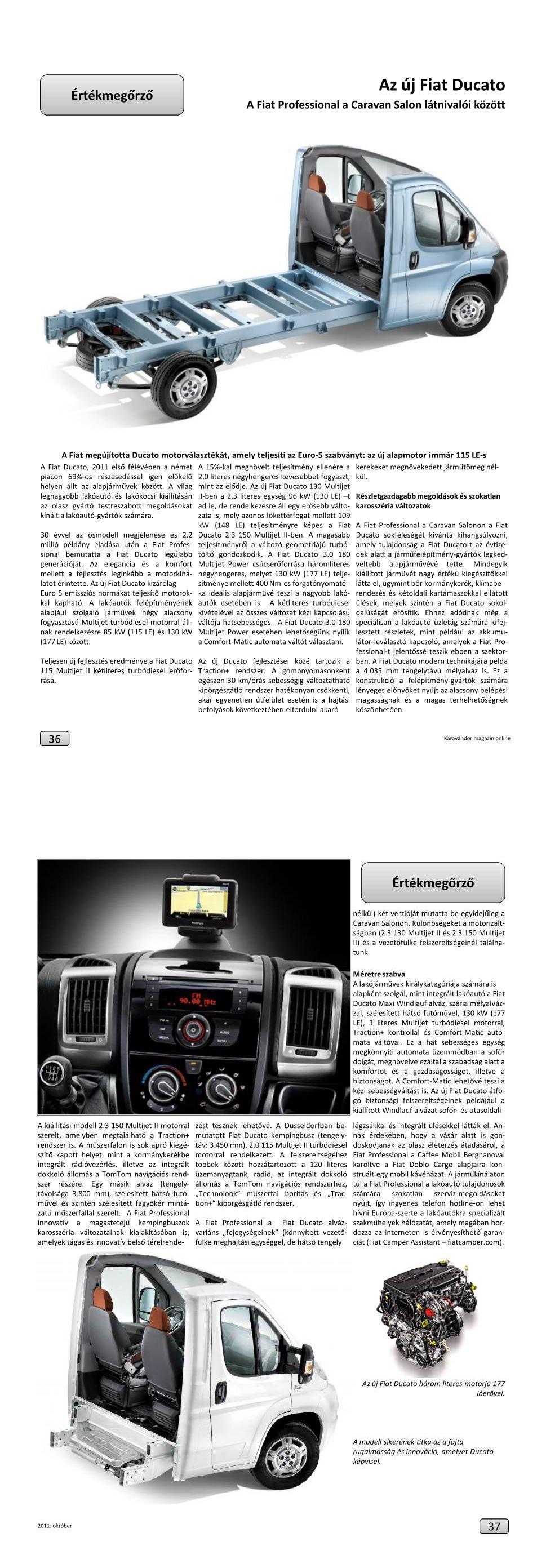 rtékmegőrző - Az új Fiat Ducato