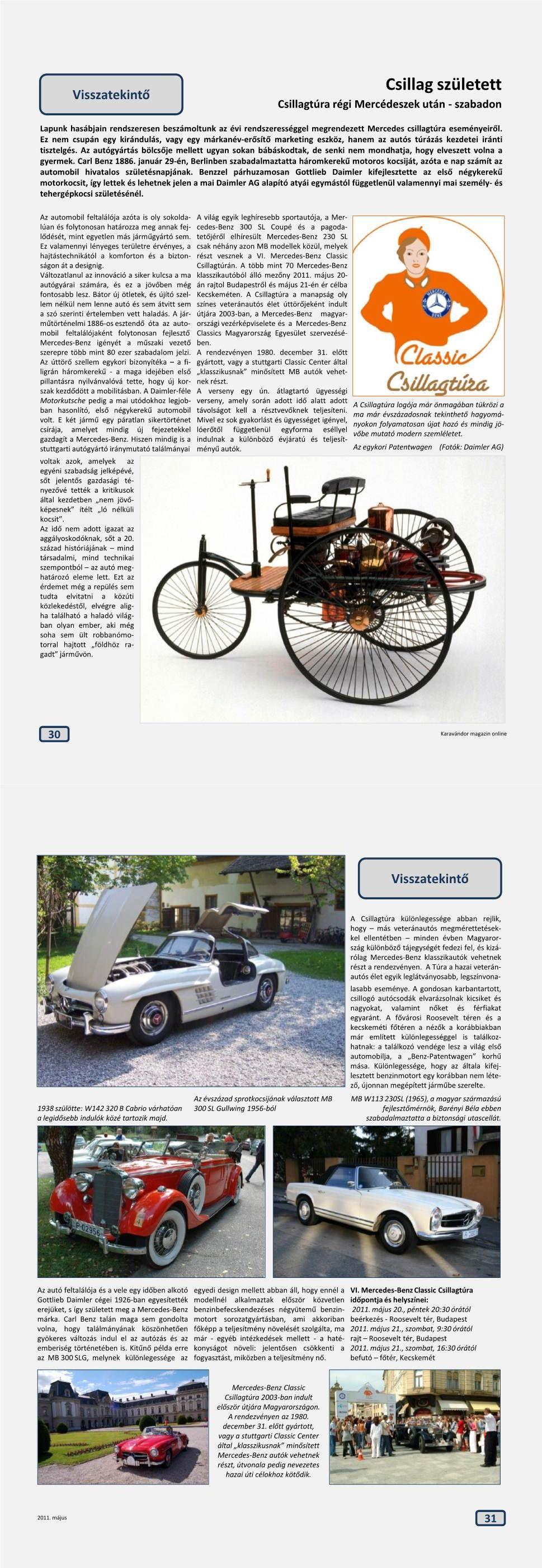 Visszatekintő - Mercedes csillagtúra