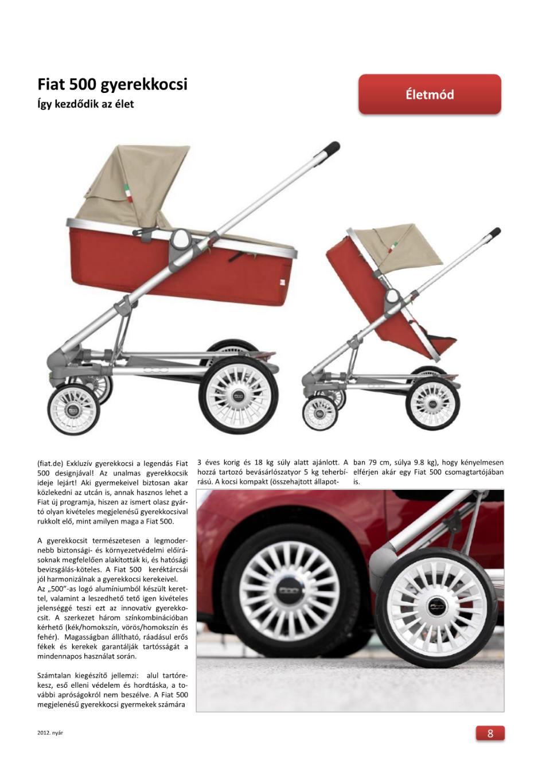 Életmód - Fiat 500 gyerekkocsi