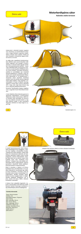 Életre való - Motorkerékpáros sátor