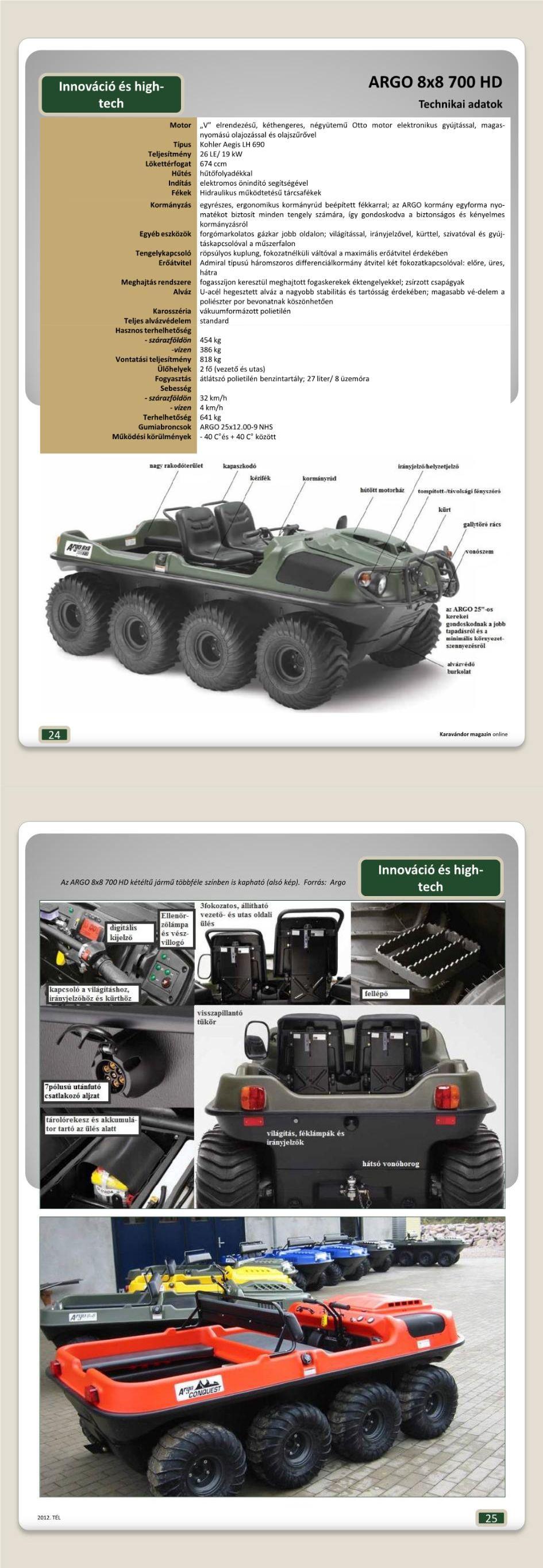 Innováció + High-Tech - ARGO 8x8 700HD