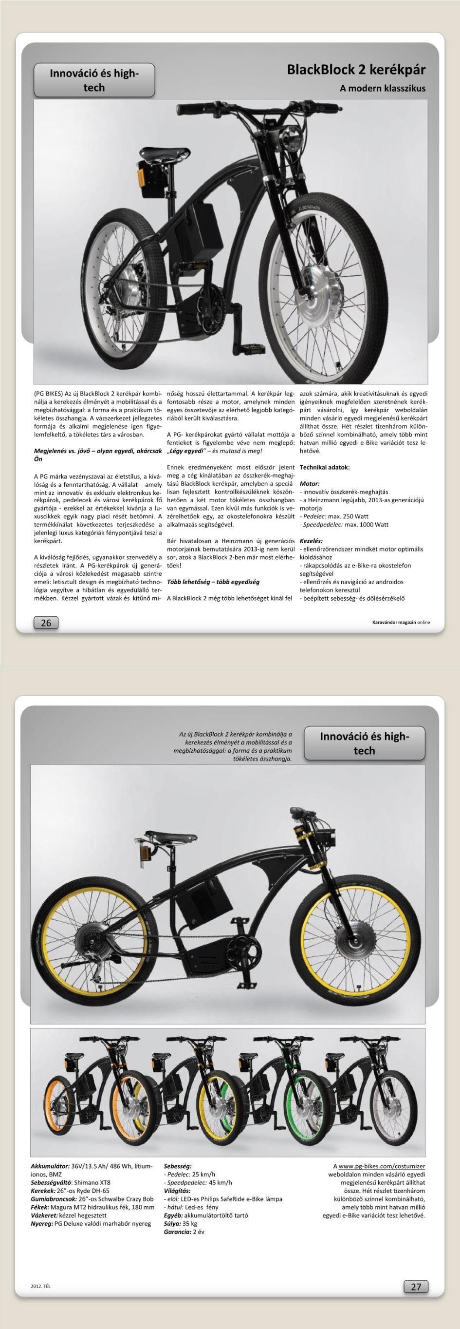 Innováció + High-Tech - BlackBlock 2 kerékpár