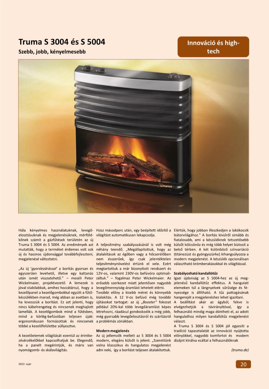 Innováció + High-Tech - Truma S 3004 és S 5004