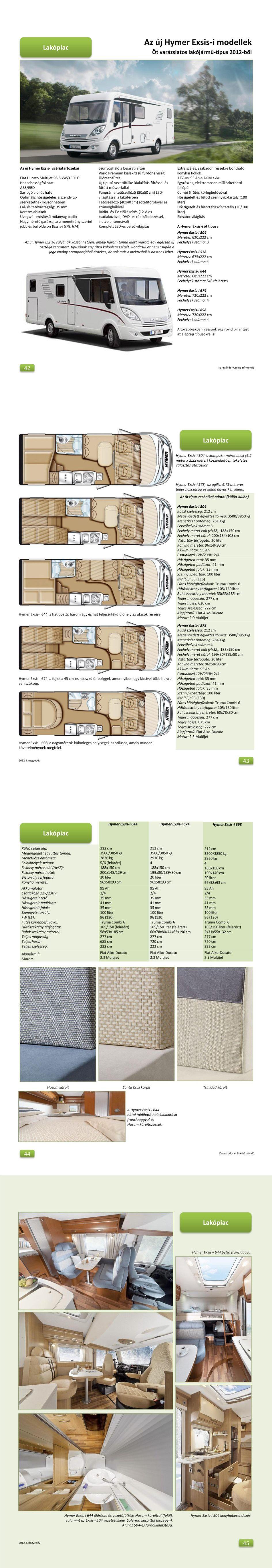 Lakópiac - Az új Hymer Exsis I modellek
