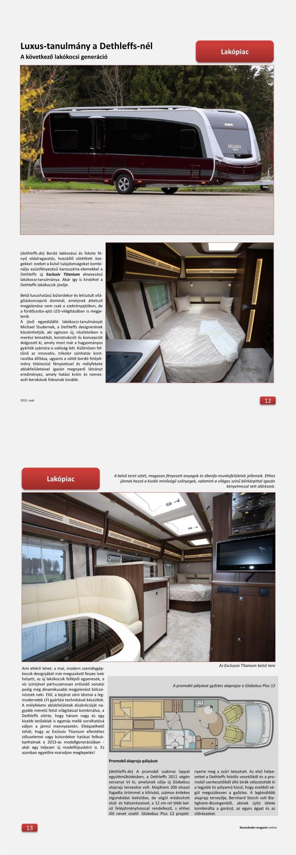 Lakópiac - Luxus-tanulmány a Dethleffs-nél